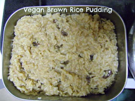Vegan Brown Rice Pudding/Snow days