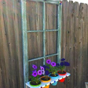 window frame flower planter