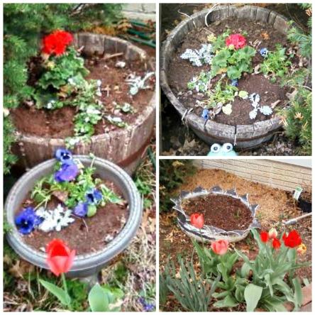 April 8 front porch flowers