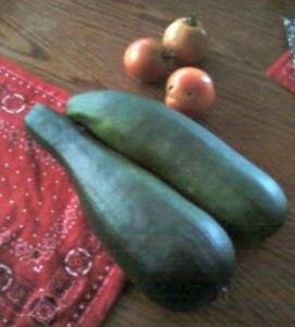 huge zucchinis